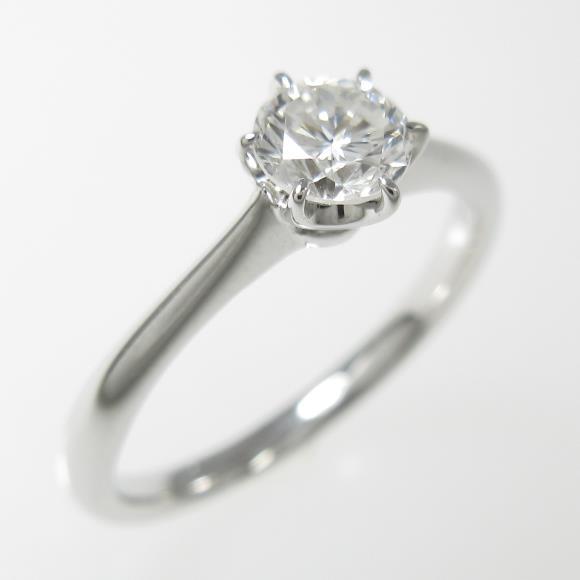 プラチナダイヤモンドリング 0.400ct・F・SI1・GOOD【中古】 【店頭受取対応商品】
