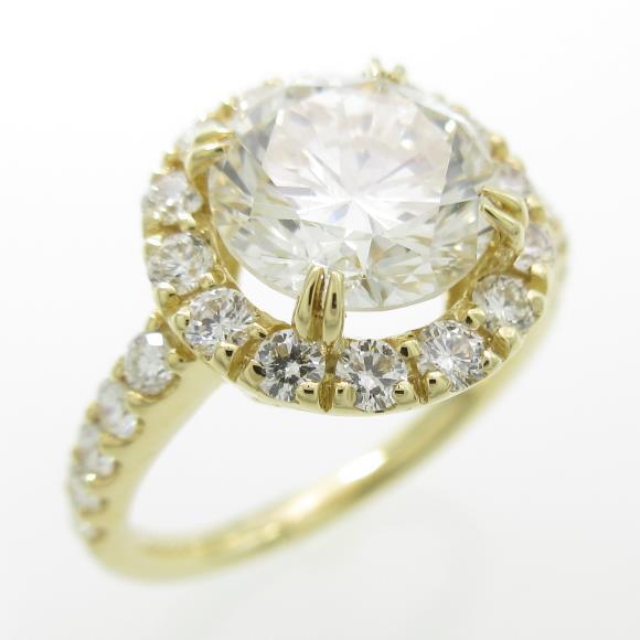 K18YG ダイヤモンドリング 2.025ct・L・SI1・GOOD【中古】 【店頭受取対応商品】