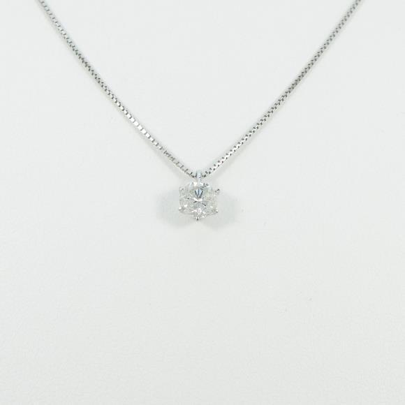 プラチナダイヤモンドネックレス 0.661ct・I・I1・GOOD【中古】 【店頭受取対応商品】