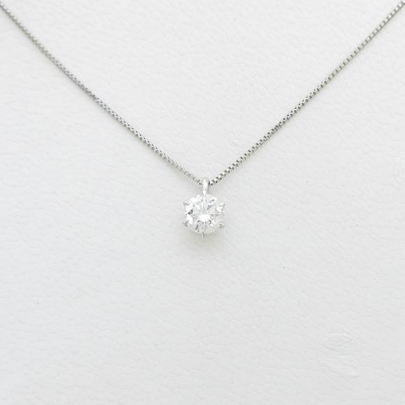 プラチナダイヤモンドネックレス 0.323ct・F・SI1・VERYGOOD【中古】 【店頭受取対応商品】