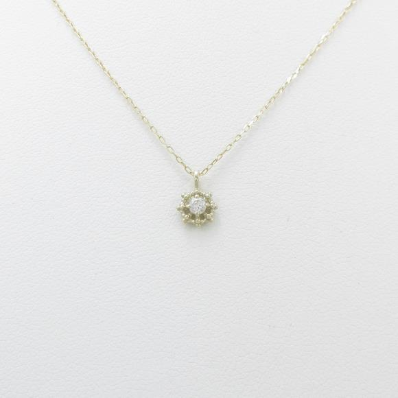 【新品】K10YG ダイヤモンドネックレス【新品】 【店頭受取対応商品】