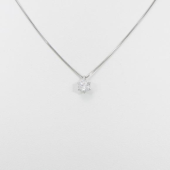 プラチナダイヤモンドネックレス 0.337ct・D・I1・EXT【中古】 【店頭受取対応商品】