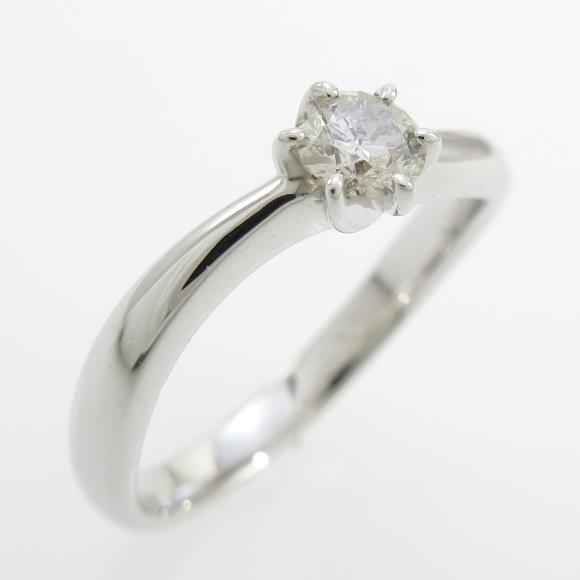 K18WG ソリティア ダイヤモンドリング【中古】 【店頭受取対応商品】