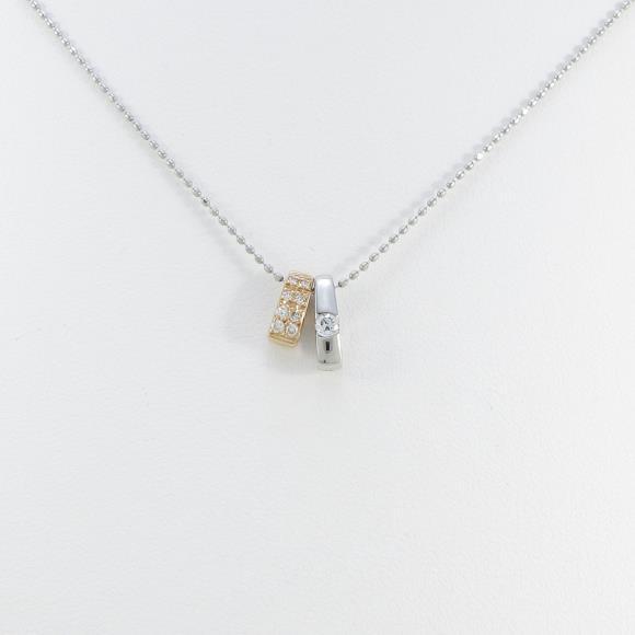 K18PG/PT 2WAY ダイヤモンドネックレス【中古】 【店頭受取対応商品】