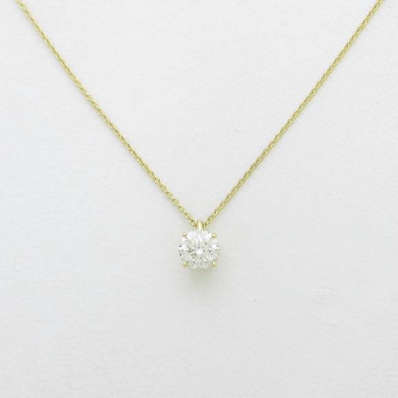 K18YG ダイヤモンドネックレス 0.596ct・K・SI2・GOOD【中古】 【店頭受取対応商品】