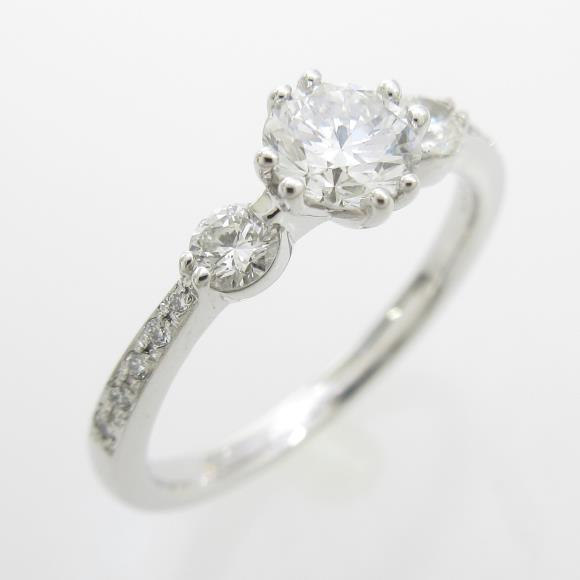 プラチナダイヤモンドリング 0.401ct・F・VS1・GOOD【中古】 【店頭受取対応商品】