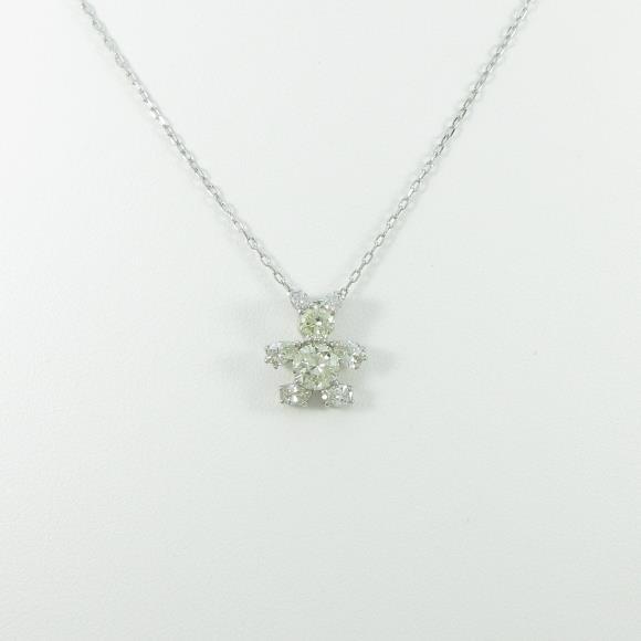 PT クマ ダイヤモンドネックレス【中古】 【店頭受取対応商品】