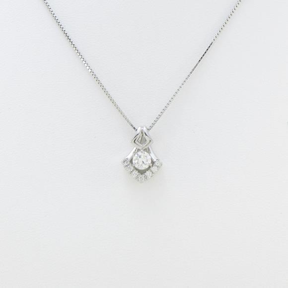 プラチナダイヤモンドネックレス 0.295ct・H・SI2・VERYGOOD【新品】 【店頭受取対応商品】