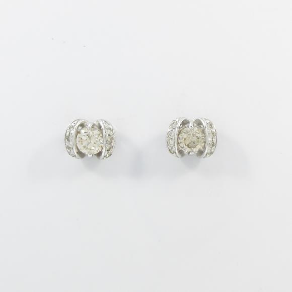 【新品】K18WG ダイヤモンドピアス【新品】 【店頭受取対応商品】