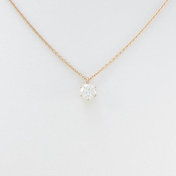 K18PG ダイヤモンドネックレス 0.334ct・J・SI1・GOOD【中古】 【店頭受取対応商品】