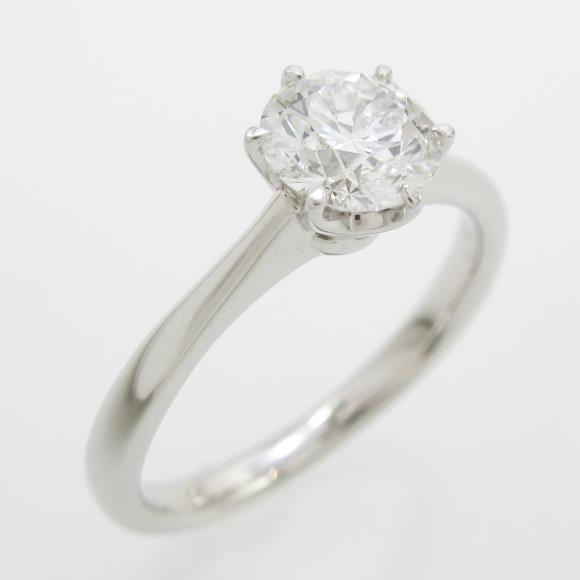 プラチナダイヤモンドリング 0.732ct・D・VVS2・EXT H&C【中古】 【店頭受取対応商品】