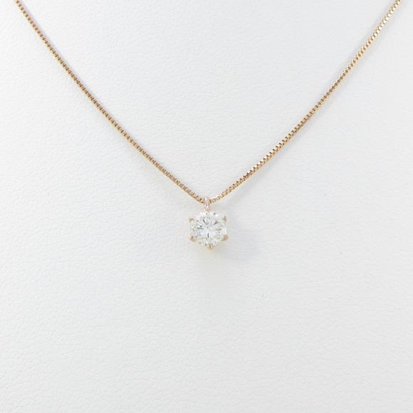 K18PG ダイヤモンドネックレス 0.315ct・J・SI2・GOOD【中古】 【店頭受取対応商品】