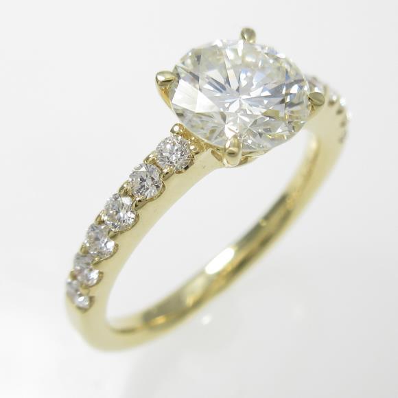 K18YG ダイヤモンドリング 1.043ct・K・VS1・VERYGOOD【中古】 【店頭受取対応商品】