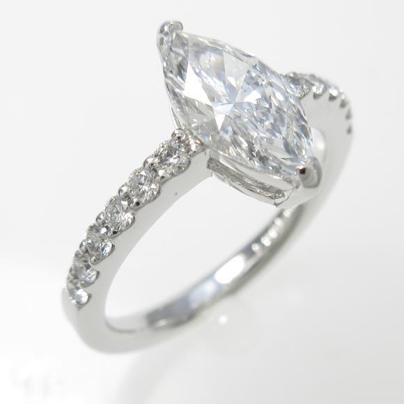 プラチナダイヤモンドリング 1.004ct・E・VS2・マーキスカット【中古】 【店頭受取対応商品】