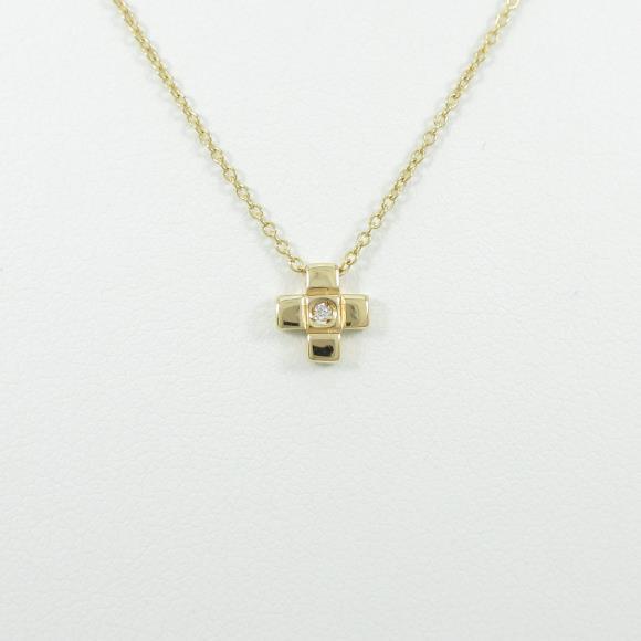 750YG クロス ダイヤモンドネックレス【中古】 【店頭受取対応商品】