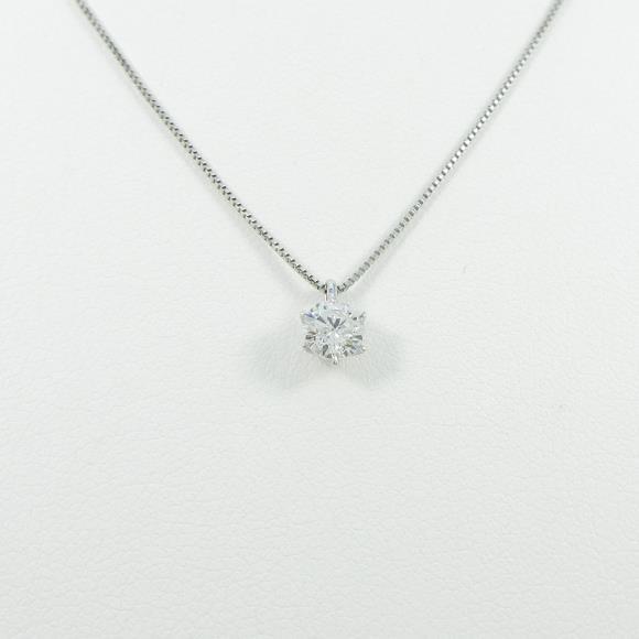 プラチナダイヤモンドネックレス 0.314ct・F・SI2・VERYGOOD【中古】 【店頭受取対応商品】