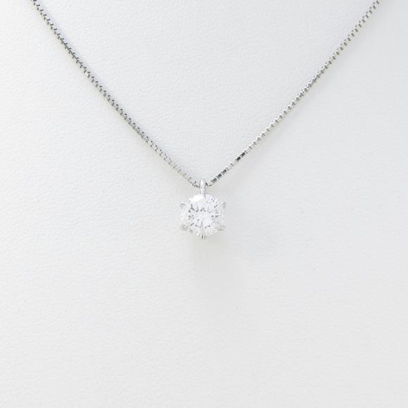 プラチナダイヤモンドネックレス 0.619ct・E・SI1・GOOD【中古】 【店頭受取対応商品】