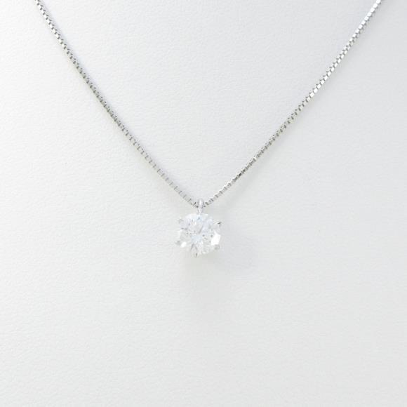 プラチナダイヤモンドネックレス 0.708ct・D・VS1・EXT【中古】 【店頭受取対応商品】