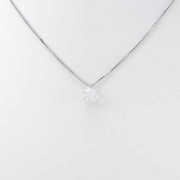 プラチナダイヤモンドネックレス 0.506ct・D・VVS1・EXT【中古】 【店頭受取対応商品】