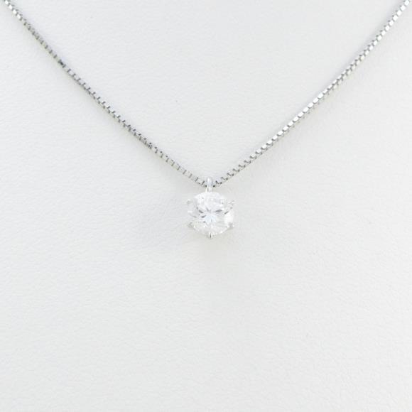 プラチナダイヤモンドネックレス 0.509ct・F・VS1・GOOD【中古】 【店頭受取対応商品】
