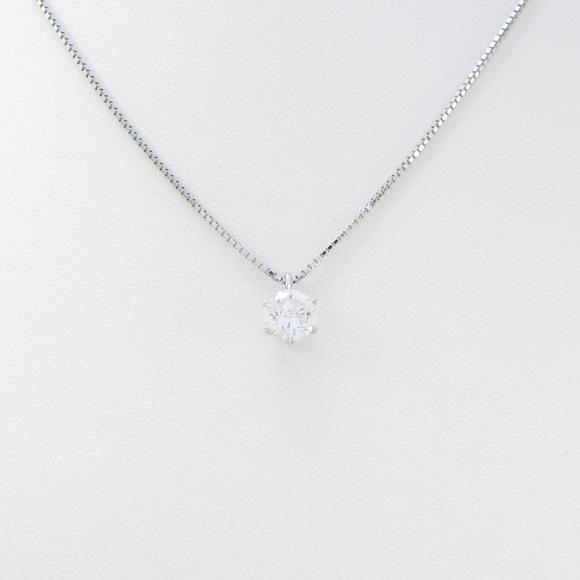 プラチナダイヤモンドネックレス 0.546ct・F・SI2・GOOD【中古】 【店頭受取対応商品】