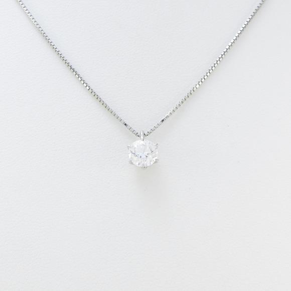 プラチナダイヤモンドネックレス 0.639ct・D・VVS1・EXCELLENT【中古】 【店頭受取対応商品】