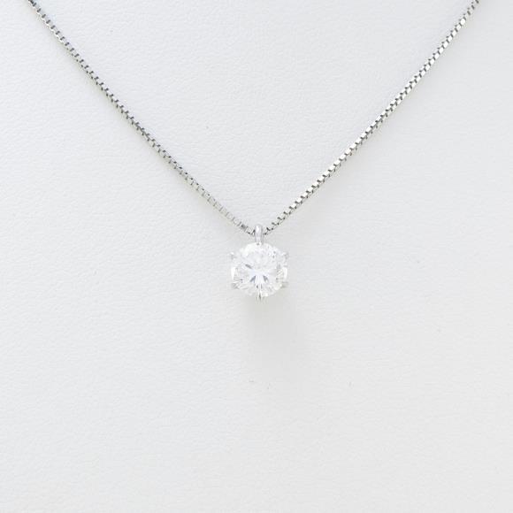 プラチナダイヤモンドネックレス 0.682ct・E・SI1・GOOD【中古】 【店頭受取対応商品】