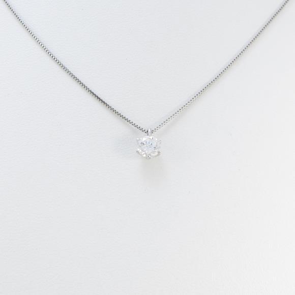 プラチナダイヤモンドネックレス 0.345ct・F・SI1・GOOD【中古】 【店頭受取対応商品】