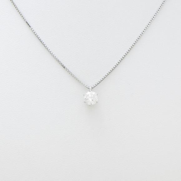 プラチナダイヤモンドネックレス 0.520ct・H・SI2・GOOD【中古】 【店頭受取対応商品】