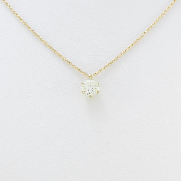 K18YG ダイヤモンドネックレス 0.343ct・VLY・VS2・GOOD【中古】 【店頭受取対応商品】