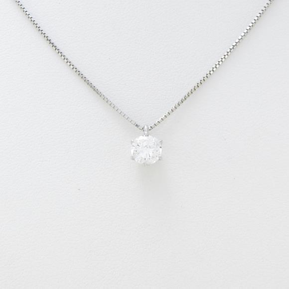 プラチナダイヤモンドネックレス 0.605ct・F・SI2・GOOD【中古】 【店頭受取対応商品】