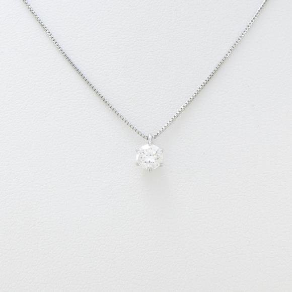 プラチナダイヤモンドネックレス 0.336ct・H・VS1・VERYGOOD【中古】 【店頭受取対応商品】