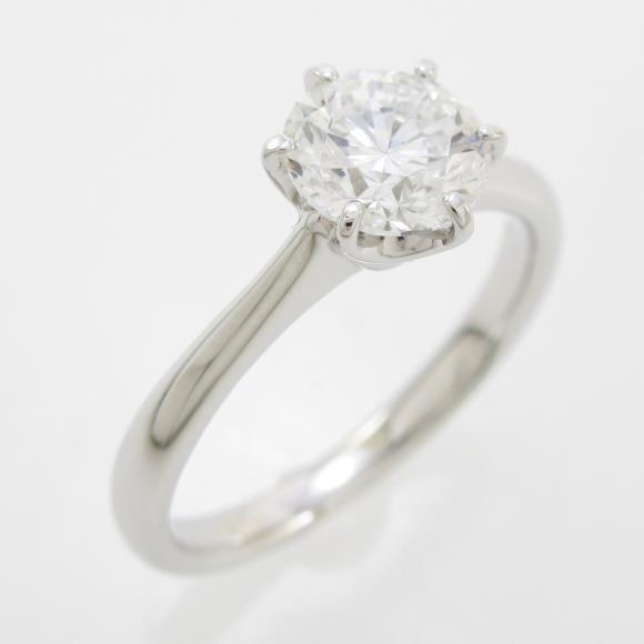 プラチナダイヤモンドリング 1.009ct・D・VVS2・GOOD【中古】 【店頭受取対応商品】