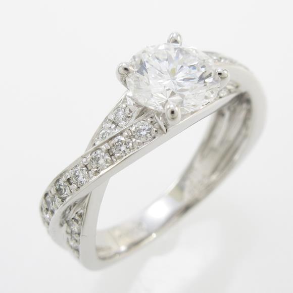 プラチナダイヤモンドリング 1.011ct・D・VVS2・VERYGOOD【中古】 【店頭受取対応商品】