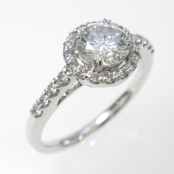 プラチナダイヤモンドリング 0.543ct・G・SI1・VERYGOOD【中古】 【店頭受取対応商品】