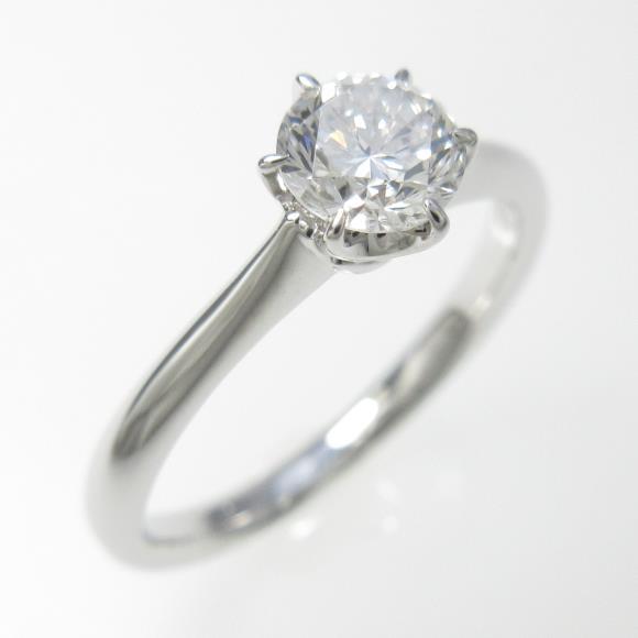 プラチナダイヤモンドリング 0.446ct・G・SI1・GOOD【中古】 【店頭受取対応商品】