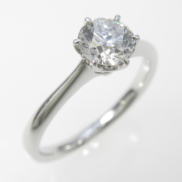 プラチナダイヤモンドリング 0.518ct・F・SI2・EXCELLENT【中古】 【店頭受取対応商品】