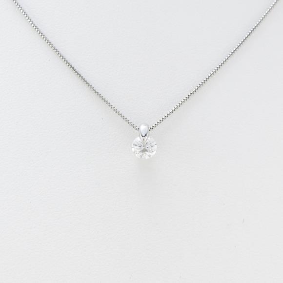 プラチナダイヤモンドネックレス 0.316ct・F・SI2・EXT H&C【中古】 【店頭受取対応商品】