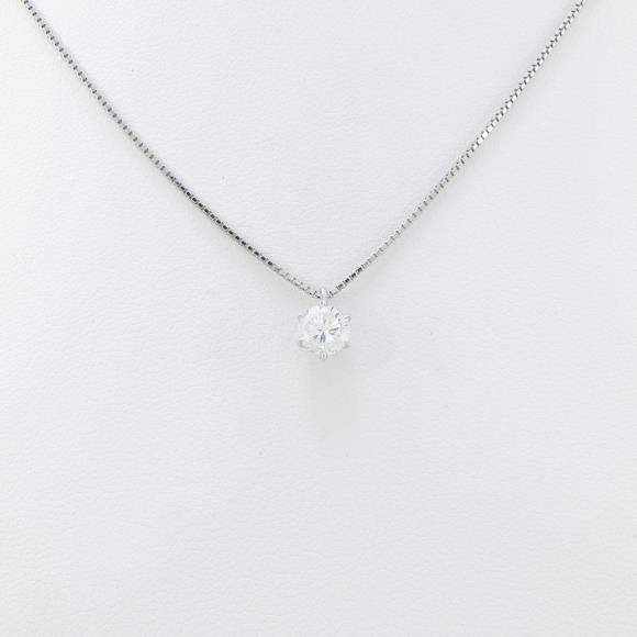 プラチナダイヤモンドネックレス 0.590ct・H・SI2・GOOD【中古】 【店頭受取対応商品】