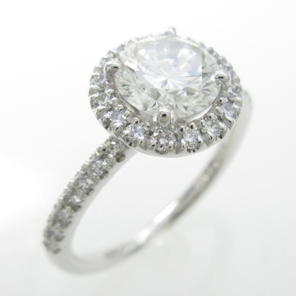 プラチナダイヤモンドリング 1.015ct・H・VS1・GOOD【中古】 【店頭受取対応商品】