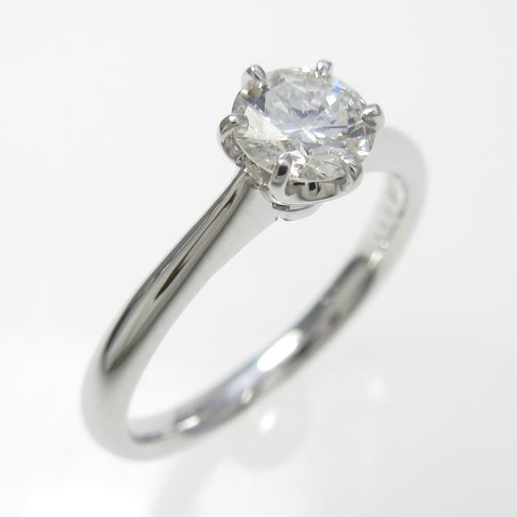 プラチナダイヤモンドリング 0.411ct・H・SI2・VERYGOOD【中古】 【店頭受取対応商品】