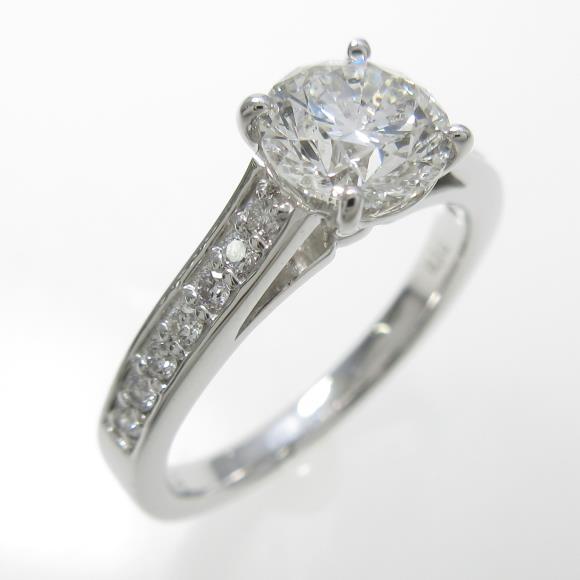 プラチナダイヤモンドリング 1.007ct・G・SI2・VERYGOOD【中古】 【店頭受取対応商品】