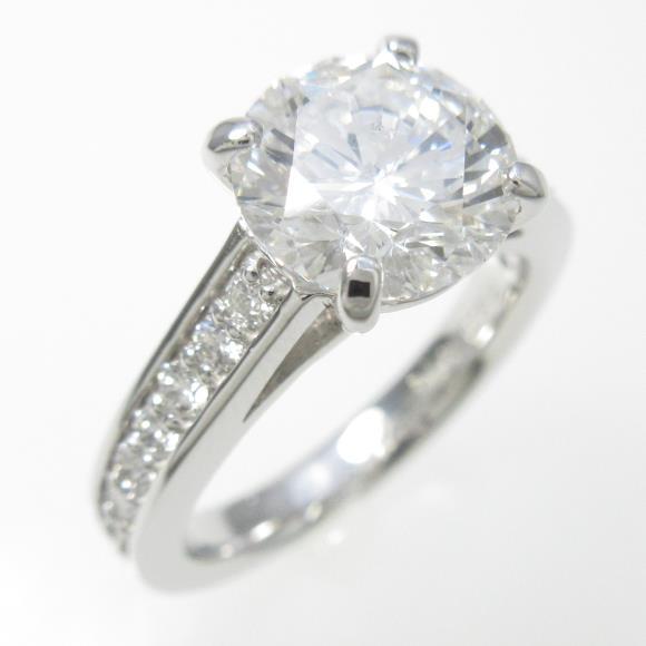 プラチナダイヤモンドリング 2.014ct・E・SI2・VERYGOOD【中古】 【店頭受取対応商品】