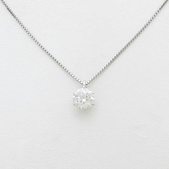 プラチナダイヤモンドネックレス 1.032ct・H・SI2・EXCELLENT【中古】 【店頭受取対応商品】