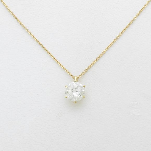 K18YG ダイヤモンドネックレス 1.112ct・I・I1・GOOD【中古】 【店頭受取対応商品】