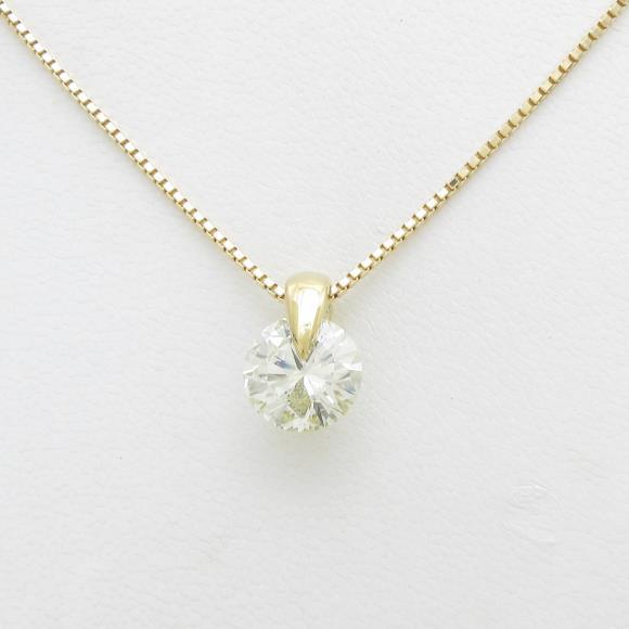 K18YG ダイヤモンドネックレス 3.036ct・M・SI2・VERYGOOD【中古】 【店頭受取対応商品】