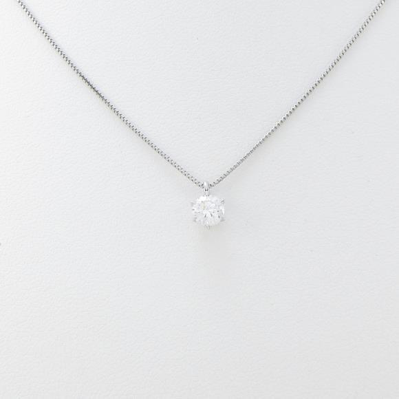 プラチナダイヤモンドネックレス 0.312ct・D・VS1・VERYGOOD【中古】 【店頭受取対応商品】
