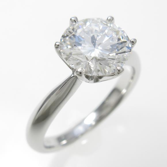 プラチナダイヤモンドリング 1.508ct・E・VS1・VERYGOOD【中古】 【店頭受取対応商品】