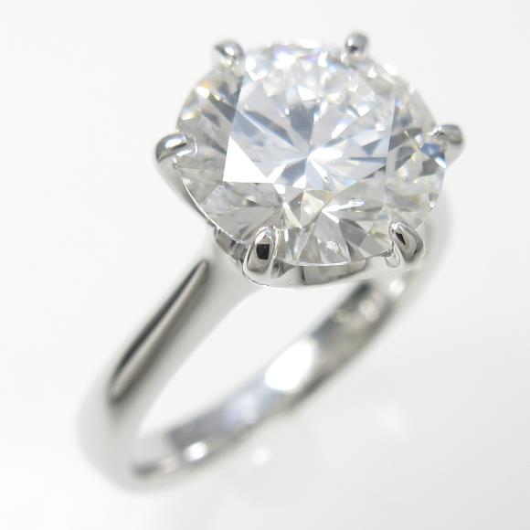 プラチナダイヤモンドリング 2.301ct・F・VVS2・EXCELLENT【中古】 【店頭受取対応商品】