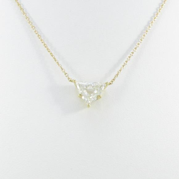 K18YG ダイヤモンドネックレス 1.333ct・K・SI1・ファンシーカット【中古】 【店頭受取対応商品】
